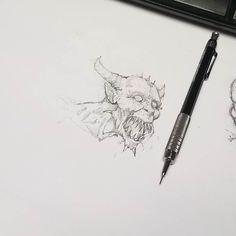 Demon doodle... Keeping myself awake during the daily grind. #Art #Horror #Demon #Artist #Drawing #Illustration #DailyArt #InstaDraw #InstaArt #InstaArtist #InstaGood #WorldofArtists #RochesterArtist #Pencil #Sketch #Doodle #Practice #Face #Portrait #Monster
