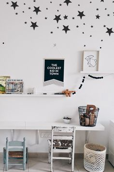 DIY kids corner in Scandinavian style. Interior design and styling at MaisonLapin. Deco Kids, Diy Zimmer, Kids Room Design, Playroom Design, Kids Corner, Kid Spaces, Kids Decor, Girls Bedroom, Childs Bedroom