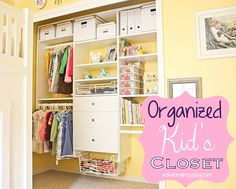 Wanting more organization in her daughter's closet, Anna of AskAnna.com turned to EasyClosets for a DIY solution.