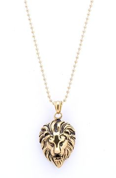 Necklace Gold Colored SKULL metal Crystal Pendant LONG chain Marvel Glaring COOL