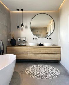 Bad Inspiration, Bathroom Inspiration, Home Decor Inspiration, Bathroom Colors, Bathroom Interior Design, Modern Bathroom Design, Beautiful Bathrooms, Home Decor Kitchen, Apartment Design