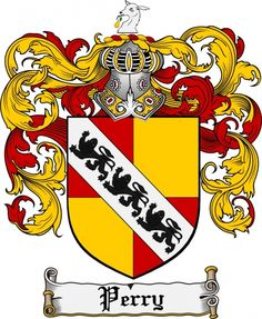 $7.99 Perry Coat of Arms Perry Family Crest Instant Download