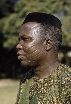 Africa | Samuel Ladoke Akintola, Premier of Western Region.  Lagos, Nigeria. 1959. | ©Eliot Elisofon.