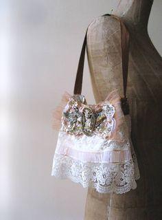 Antique Buckle Bow Bag Vintage Lace Wedding par AllThingsPretty,