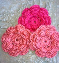 Embellishments Applique Crafting Supplies Crochet by GrammaLeas, $7.50