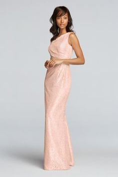 Fitted with all over lace, this one shoulder bridesmaids dress will be one to remember!  One shoulder illusion neckline.  Natural waistline paired with floor length skirt.  Fully lined. Zipper Back. Imported polyester. Dry clean only.  Also available in Extra Length Sizes as Style 4XLF19042M . Check your local stores for availability.  To protect your dress, try our Non Woven Garment Bag.