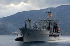 SOUDA BAY, Greece (Mar. 10, 2014) – Military Sealift Command fleet replenishment oiler USNS Big Horn (T-AO-198) arrives in Souda Bay for scheduled port visit. Big Horn, Henry J. Kaiser-class fleet replenishment oiler, is able to provide up to 31,200 tons of cargo to U.S. Navy assets during resupply operations. (U.S. Navy photo by Mass Communication Specialist 2nd Class Jeffrey M. Richardson)