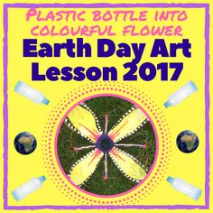 Earth Day is April Celebrate with this straight forward and fun art lesson highlighting the environmental damage of waste plastic. Plastic Bottle Flowers, Plastic Bottle Crafts, Plastic Bottles, Posca Marker, Marker Pen, Earth Day Quiz, Plastic Waste, Environmental Art, Craft Activities