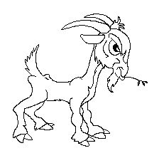 Free Cartoon Billy Goat Clipart, 1 page of Public Domain Clip Art Logo Sketches, Art Drawings Sketches, Goat Picture, Public Domain Clip Art, Goat Art, Cartoon Cow, Free Cartoons, Animal Tattoos, Painting Patterns