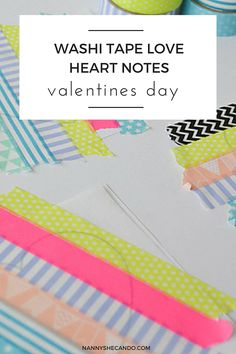 Spread the love & make your special-someone's day this #ValentinesDay (and every day there after!) with these super easy #washitape wall sticker love notes!