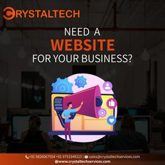 Grow your business with a website from CRYSTALTECH™, The Best Web design, and Development Agency. Contact us now for Free Consultation to know about a suitable website for your business. To get in touch Call us / WhatsApp : +91 9753349215 or +91 9826067554 Mail us: sales@crystaltechservices.com, contact@crystaltechservices.com Let's Get Connect & Discuss Further. It Service Provider, Best Web Design, Growing Your Business, Connection, Good Things, Let It Be, Website, Touch, Free
