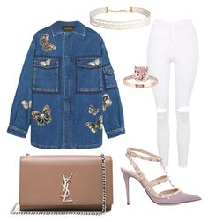 """""""Meet your home girl"""" by jojo-lawler on Polyvore featuring Yves Saint Laurent, Valentino, Topshop and Humble Chic"""
