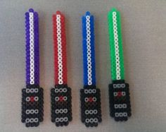 Perler Bead Star Wars Lightsaber Keychains