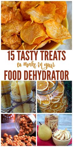 15 Tasty Treats to Make in Your Food Dehydrator Do you have a food dehydrator? Did you know you can make more than jerky with it? Here are some great ideas and recipes to try in you food dehydrator that will give you some great snack options Canning Recipes, Raw Food Recipes, Gourmet Recipes, Mexican Food Recipes, Dehydrated Food Recipes, Freezer Recipes, Drink Recipes, Canning 101, Jar Recipes