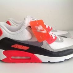 on sale b7cc4 01059 Nike Air Max 90 OG Infrared White Cool Gray Black 725233 106 brand new size  11 with original box style code  725233 106 colorway  white cool gray  infrared ...
