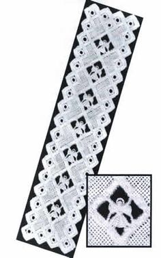 This incredible bookmark has a wrapping technique that creates an Angel!  The model was stitched on 28-count White Cashel Linen (3281-100).  You will need DMC Pearl Cotton Size 8 and 12 -White.