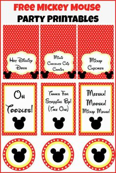 Mickey Mouse Clubhouse Party Ideas and Free Party Printables