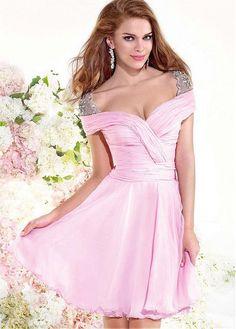 7db00528e5 Lovely Silk-like Chiffon Sweetheart Neckline A-line Mini Sexy Homecoming  Dress