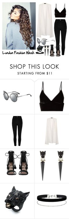 """445->London Fashion Week"" by dimibra ❤ liked on Polyvore featuring Fendi, T By Alexander Wang, River Island, Lavish Alice, Zimmermann, Coleman, Alexis Bittar, Miss Selfridge and smartbuyglasses"