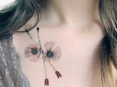 Temporary+Tattoo+Bluejay+Feather+and+Wild+Roses+por+BurrowingHome
