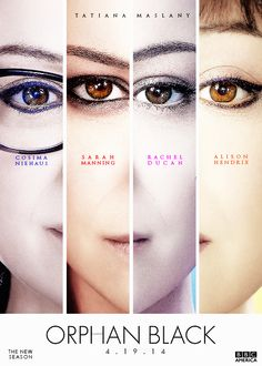 ORPHAN BLACK -looking at the makeup differances is interesting