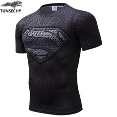 Compression Shirt Superhero Superman Captain America  3D T Shirt Fitness