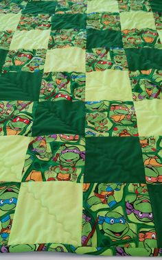 Teenage Mutant Ninja Turtle Lap Quilt by NeedlesandKnotts on Etsy