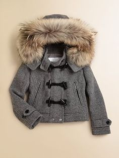 Burberry - Girl's Cropped Duffle Coat