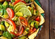 Pulled Pork Taco Salad Recipe with Lime Vinaigrette