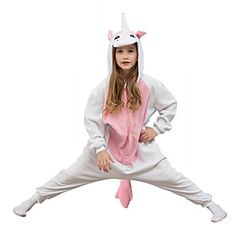 Kigurumi Pajamas Unicorn Leotard/Onesie Festival/Holiday Animal Sleepwear Halloween Pink Solid Polar Fleece For KidHalloween Christmas Holiday Costumes, Onesie Pajamas, Polar Fleece, Unicorn Party, Leotards, Boy Or Girl, Pony, Rain Jacket
