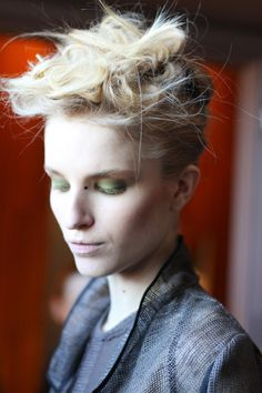 Katie Gallagher FW12. Makeup by MAC. Hair by Cesar Ramirez.  Image - The Greyest Ghost for CofP