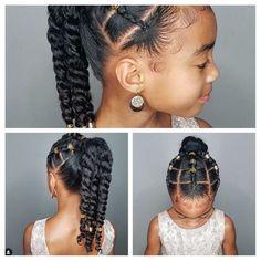 Hair Cut Styles For Women Little Girl Fancy Hairstyles Hair hair cutting style 2016 - Hair Cutting Style Black Kids Hairstyles, Natural Hairstyles For Kids, Kids Braided Hairstyles, Fancy Hairstyles, Hairstyles Videos, Mixed Girl Hairstyles, Men Hairstyles, School Hairstyles, Kids Natural Hair