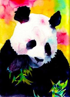 Watercolor pandas
