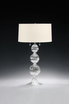 Decorative Crafts' clear Venetian glass Lamp. Hand blown in Murano, Italy #TableLamp #Lamp #Lighting #LightingFixture #LightFixture #InteriorDesign #Design #InteriorDecor #Decor #Interior #RoomDesign #Elegant #Luxurious #Refined #Imported #Italian #venetian #venetianglass #glass #lighting #furnishings #homedecor #design #luxuryinterior #homedesign #dekorasyon #highend #luxe