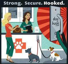 Dog Leash Hooks | Outdoor Dog Hitch | Shop Doghook.com