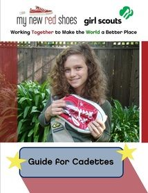 My New Red shoes Guide for Cadette Girl Scouts - goes with the aMAZE journey.
