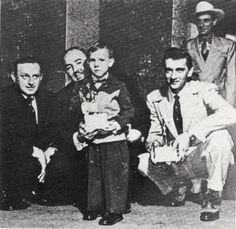 Opry Manager Jim Denny, Song Publisher Wesley Rose, Hank Williams Jr.,  Carl Smith, and Ernest Tubb