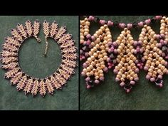 "Beading4perfectionists : ""Coral Reef"" necklace with TOHO and Miyuki beads beading tutorial - YouTube"