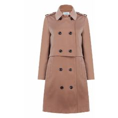 Beige Sherlock Trench (3.665 RUB) ❤ liked on Polyvore featuring outerwear, coats, beige trench coat, trench coat, jovonna, beige trenchcoat and beige coat