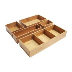 Found it at Wayfair - Bamboo 5 Piece Drawer Organizer Box Set Storage Containers, Storage Boxes, Storage Organization, Storage Ideas, Kitchen Organization, Kitchen Storage, Drawer Storage, Bathroom Organisation, Closet Storage