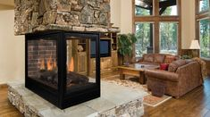 Pearl Direct Vent Gas Fireplaces by Majestic Products - great multi-view unit.