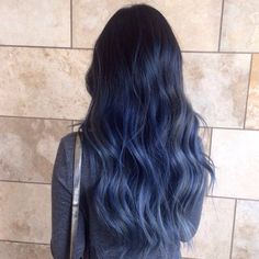 Atelier By Tiffany - Los Angeles, CA, United States. Blue Balayage Ombre, Atelier by Tiffany