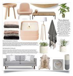 """Simple Living Room"" by mayafunnyface ❤ liked on Polyvore featuring interior, interiors, interior design, home, home decor, interior decorating, Normann Copenhagen, Menu, Cookut and LEFF Amsterdam"