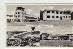 Hannover Flughafen Flugzeug ca 1950