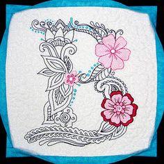 Purely Gates Mylar Floral Monogram