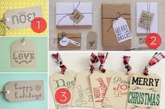 Roundup of 25 free holiday gift tag #printable