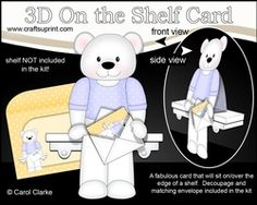 3D On The Shelf Card Kit - Austin Bear Has A Mini Card & Envelope