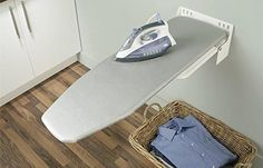 Wall mounted ironing board Ironfix by Hafele installed on the wall for maximum space saving. It is the perfect solution for your laundry room, your guesthouse, your holiday home, and perfect for motel and hotel rooms. Space Saving, Wall Mounted Ironing Board, Home, Iron Storage, Cool Walls, Storage, Hafele, Storage Cabinet, Built In Cabinets