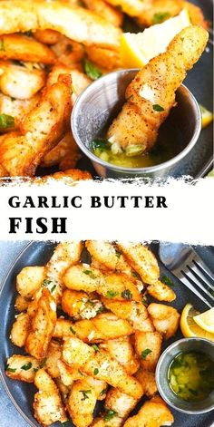 Garlic Butter Fish Recipe, Best Fried Fish Recipe, Best Fish Recipes, Fried Fish Recipes, Side Dish Recipes, Asian Recipes, Favorite Recipes, Healthy Recipes, Seafood Dishes