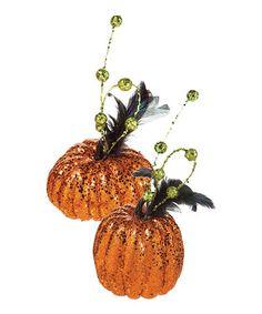 Another great find on #zulily! Fashion Fun Pumpkin Décor Set #zulilyfinds